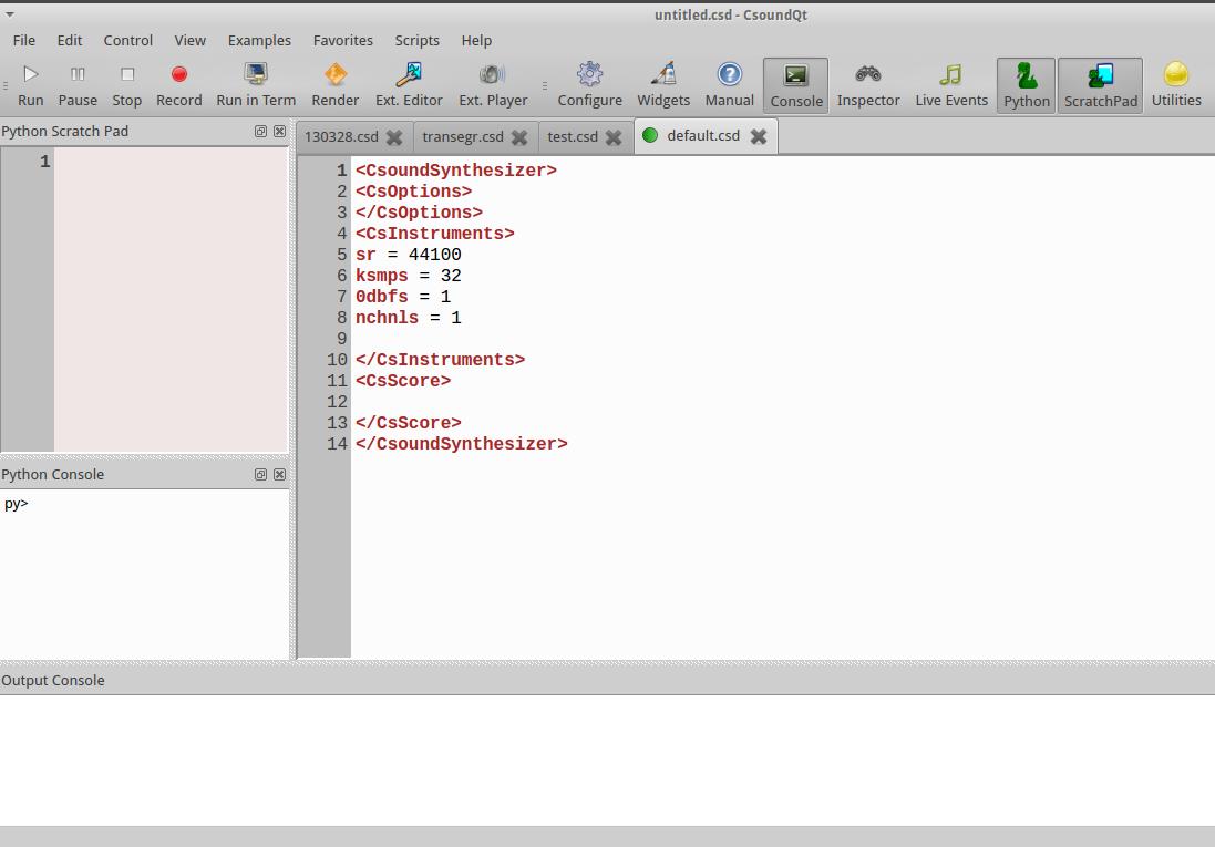 chapter: C-Python-In-Csoundqt / CSOUND